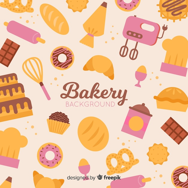 Bakery background Free Vector