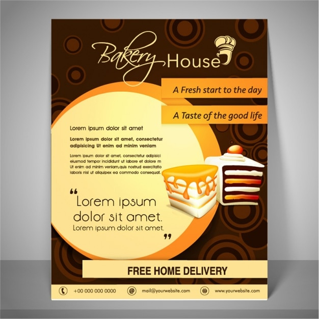 Bakery Brochure Template Vector Premium Download - Bakery brochure template free