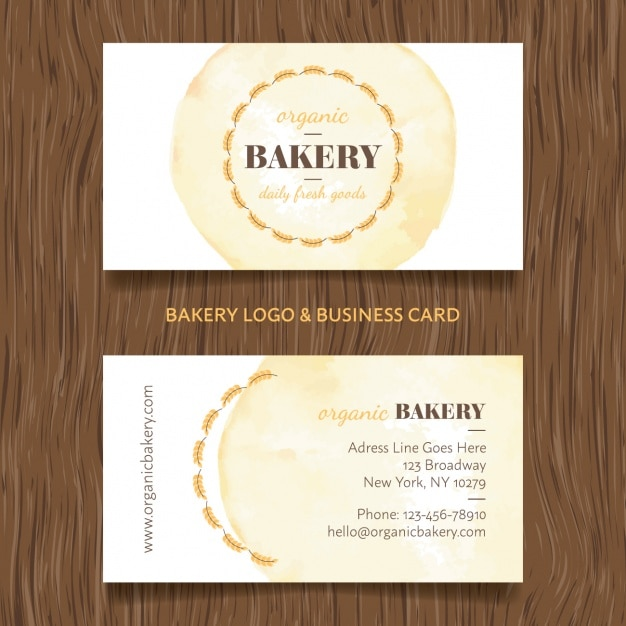 bakery business card design free vector - Bakery Business Cards