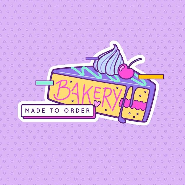 Пекарня торт с логотипом Бесплатные векторы