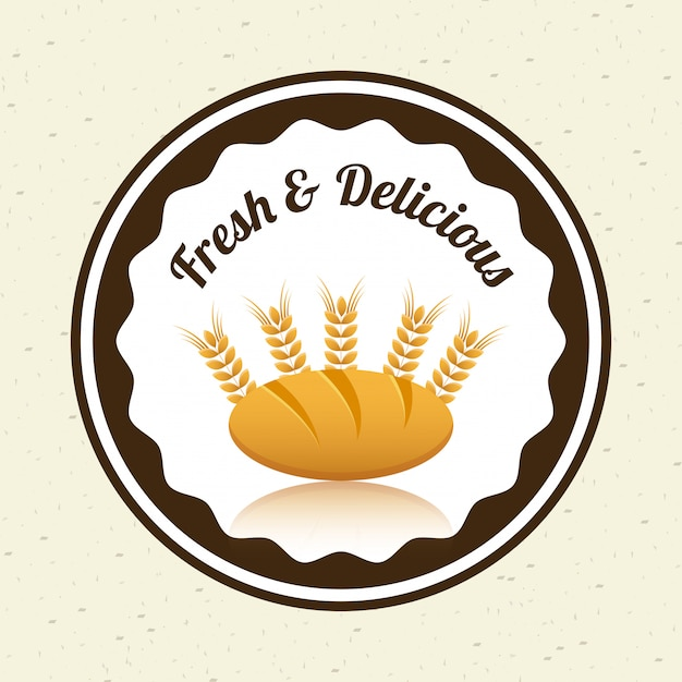 Bakery design Free Vector