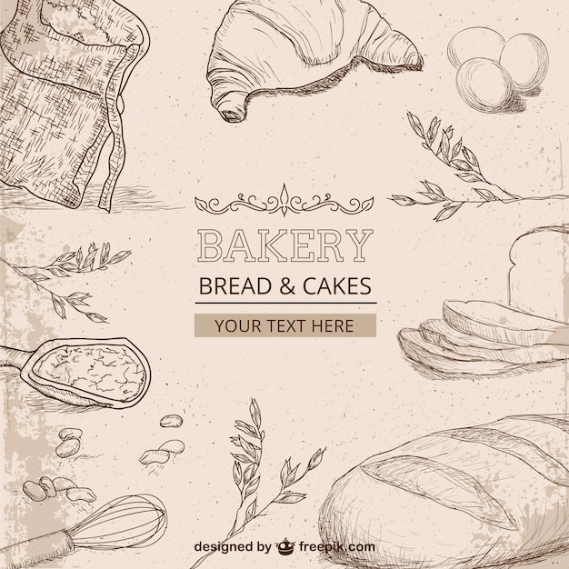 Bakery Drawings Vector Free Download