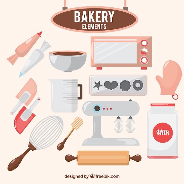 Bakery elements Free Vector