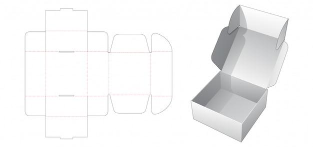ベーカリー折りたたみボックスダイカットテンプレート Premiumベクター