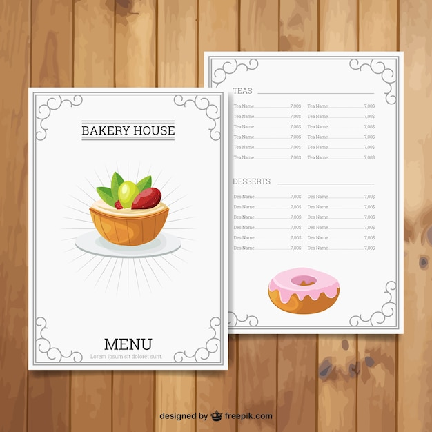Bakery house menu vector free download bakery house menu free vector thecheapjerseys Images