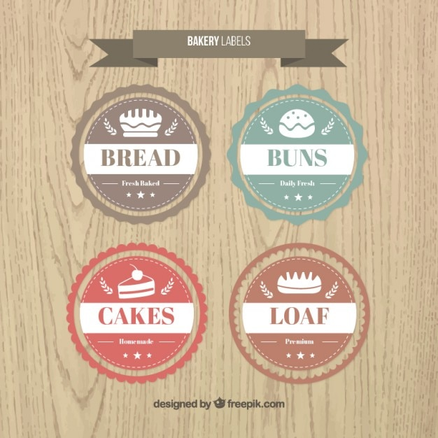 Bakery Label Collection Vector