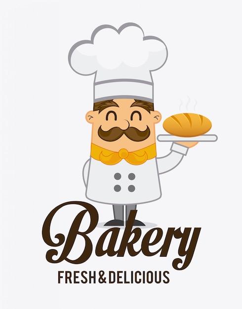 Bakery label design, vector illustration eps10 graphic Premium Vector
