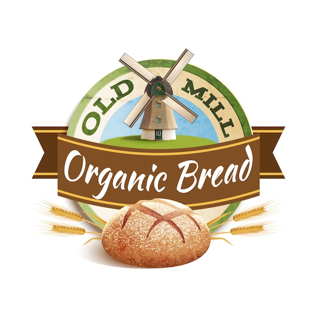 Bakery label illustration Free Vector