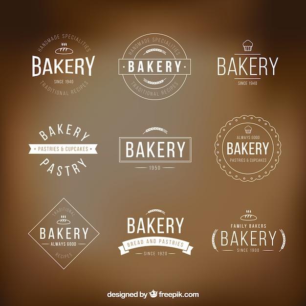 bakery logo templates pack vector premium download