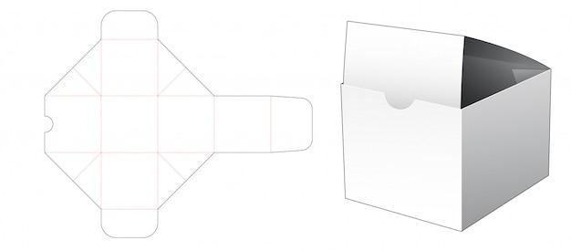 Bakery packaging box die cut template Premium Vector