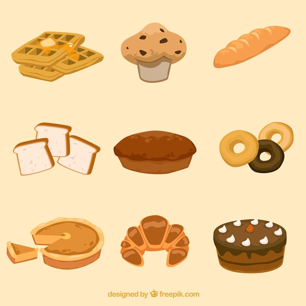 bakery products Free Vector