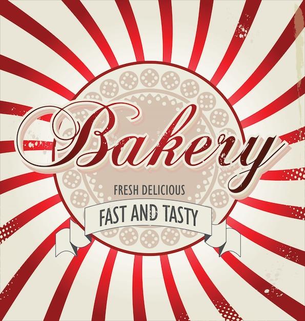 Bakery retro background Premium Vector