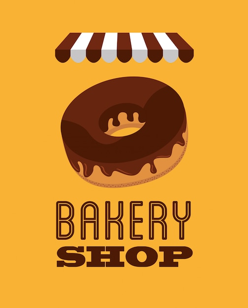 Bakery shop illustration Free Vector