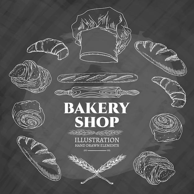 Bakery shop vector illustration Premium Vector