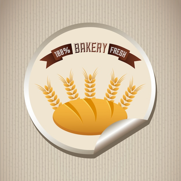 Bakery simple element Free Vector