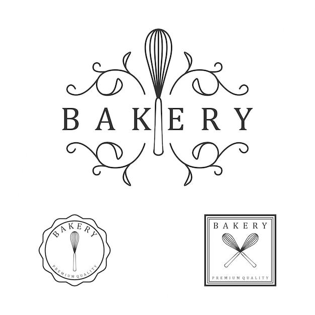 Bakery vintage logo Premium Vector