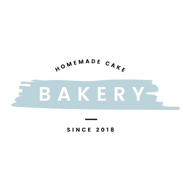 Bakery with homemade cakes logo vector Free Vector