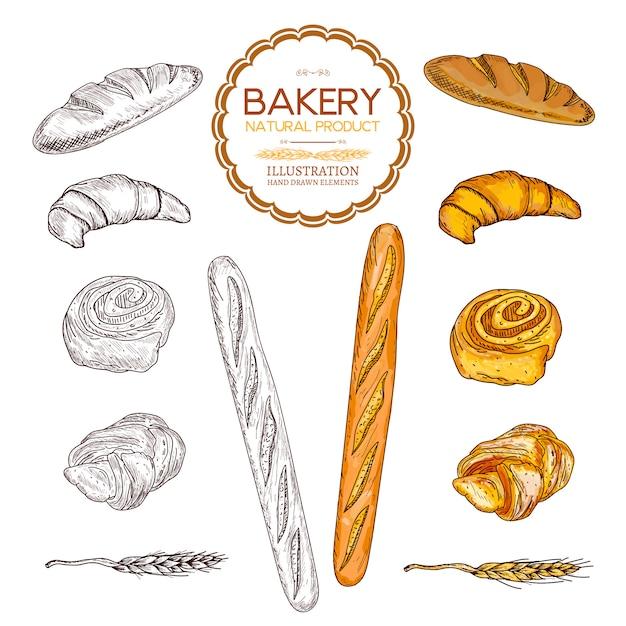 Baking collection Premium Vector