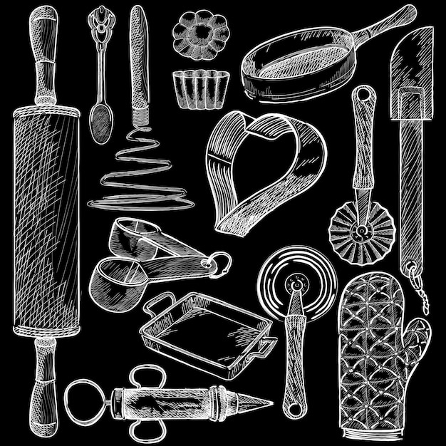 Baking tools Free Vector