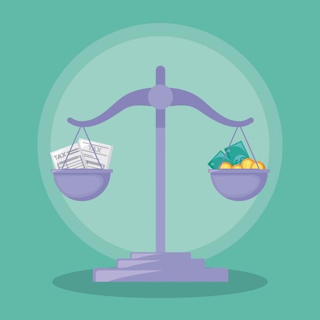 Balance finance economy isolated Premium Vector