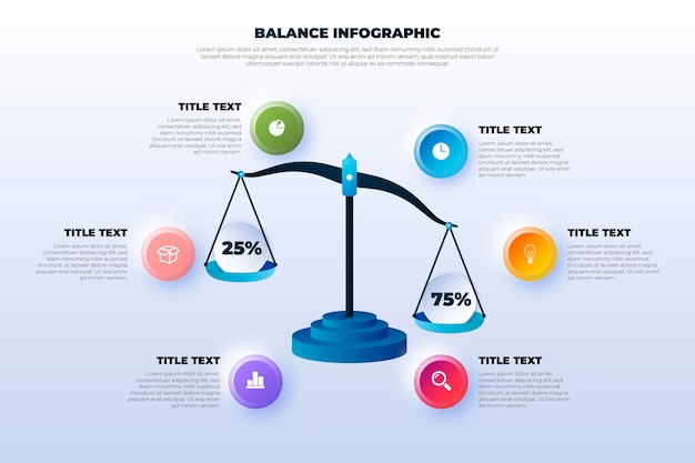 Balance infographics concept Free Vector