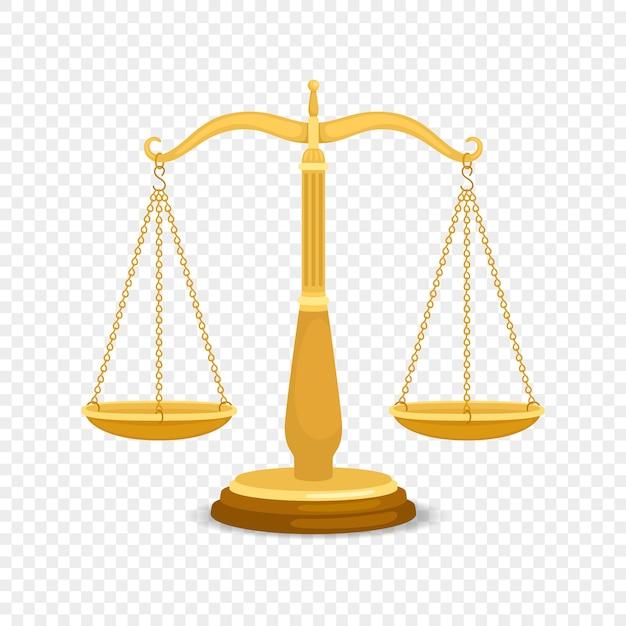 Балансировка металлических весов. золотой бизнес или ретро весы золотое правосудие Premium векторы