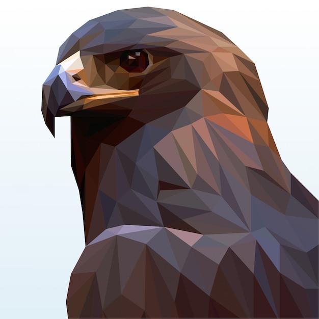 A bald eagle polygonal Premium Vector