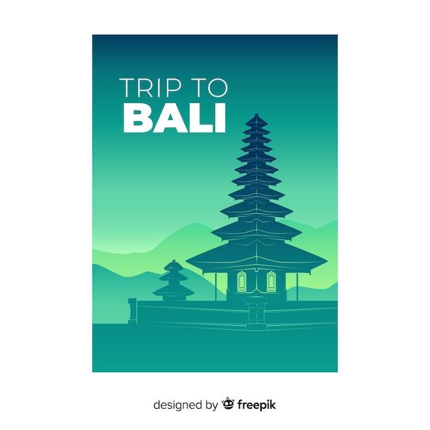 Bali flyer Free Vector