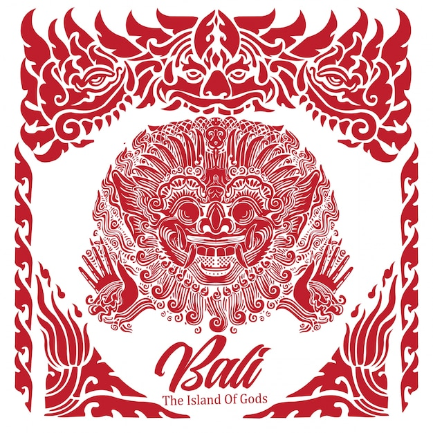 Bali The Island Of Gods Vector Premium Download