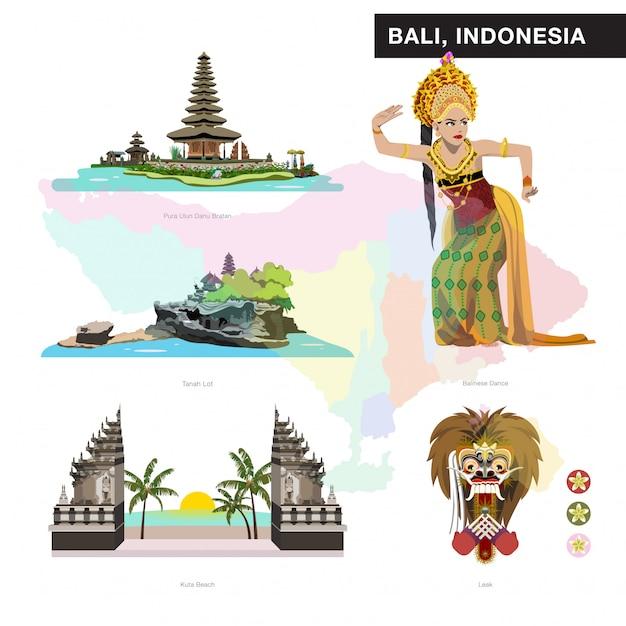 Bali set collection Premium Vector