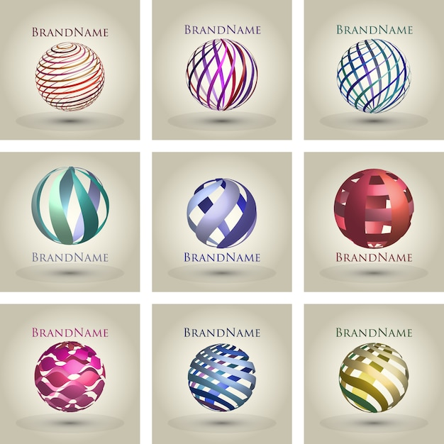 ball logo collection vector free download