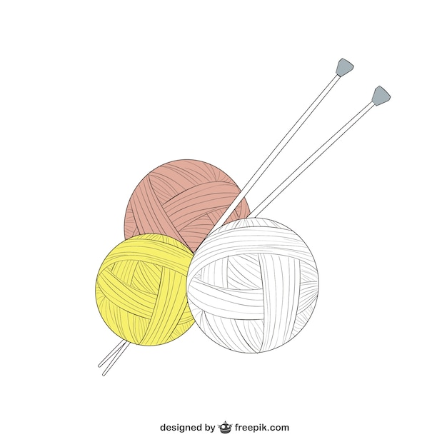 Ball of wool Free Vector