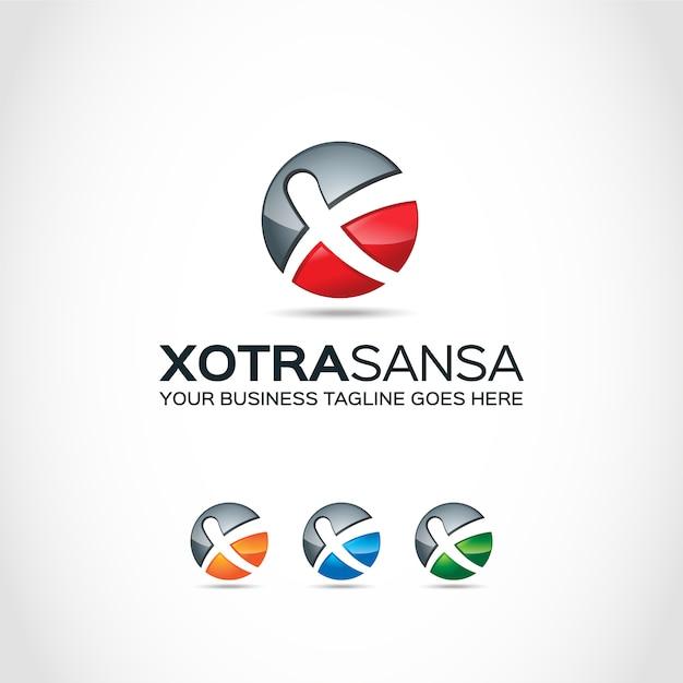 Palla con disegno x logo Vettore gratuito