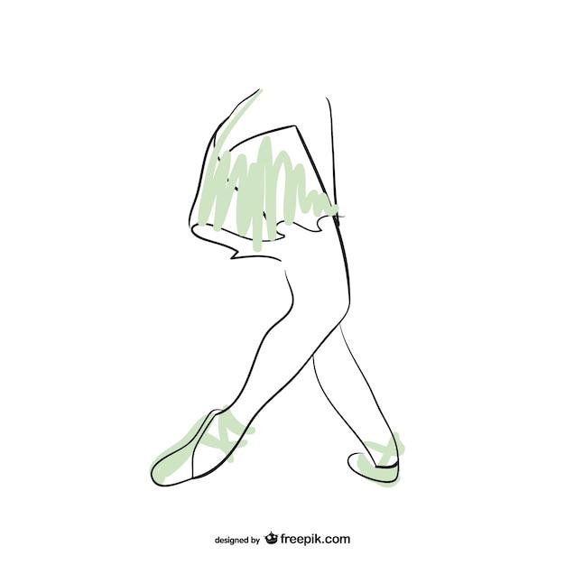 Ballerina dancer feet