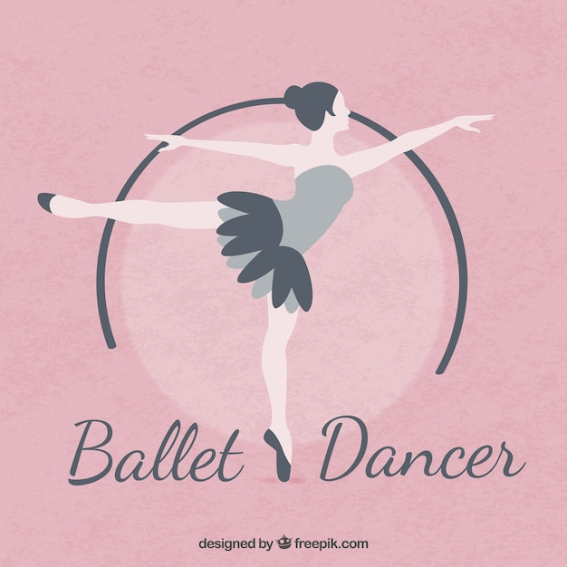 Ballet dancer in flat design