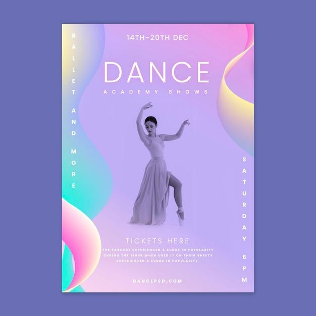 Ballet dancer poster template Free Vector