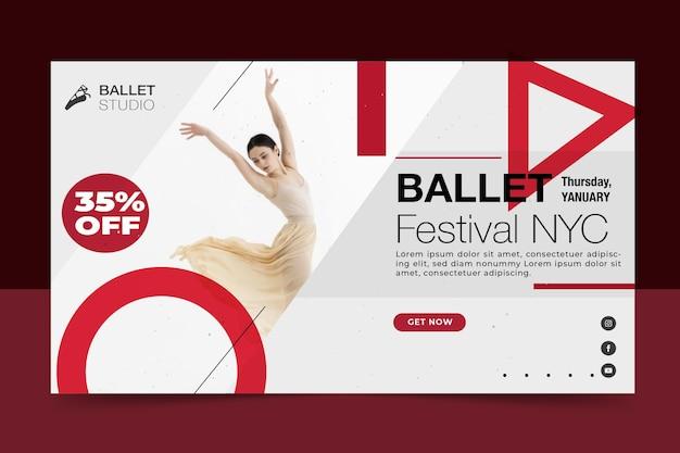 Балетный фестиваль баннер дизайн шаблона Бесплатные векторы