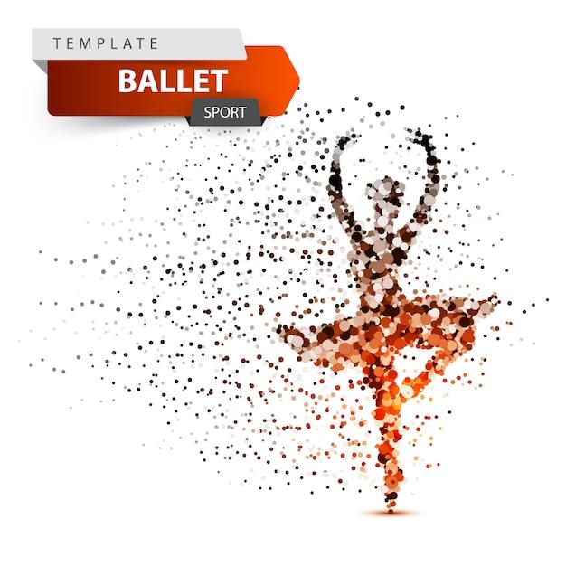 Ballet, sport, dancing girl illustration Premium Vector