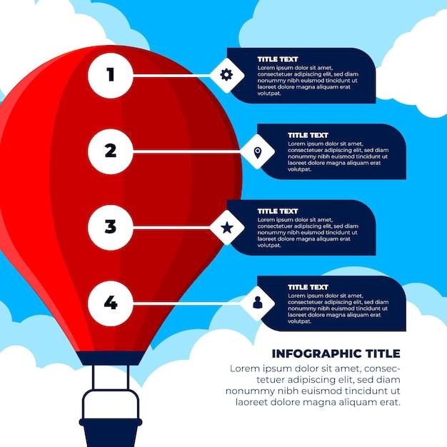 Balloon infographic concept Free Vector