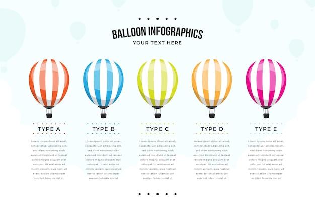 풍선 infographic 템플릿 무료 벡터