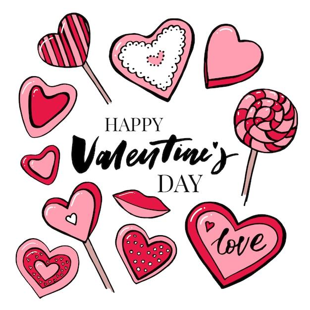 バレンタインデーテキストballoon-love Premiumベクター