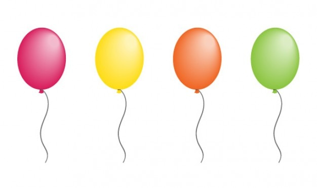 Balloon Vector With 8 Colors Vector Free Download