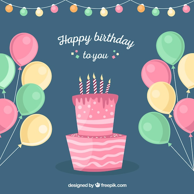 Stupendous Balloons And Birthday Cake Background Stock Images Page Everypixel Funny Birthday Cards Online Inifofree Goldxyz