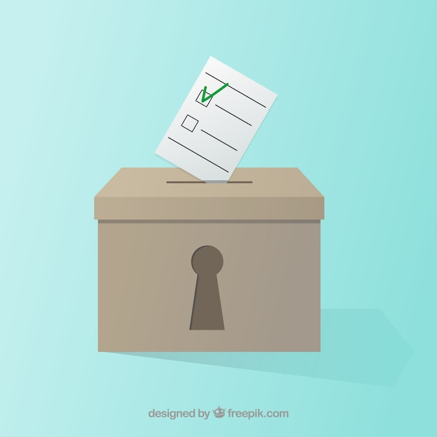 ballot box with lock hole Free Vector