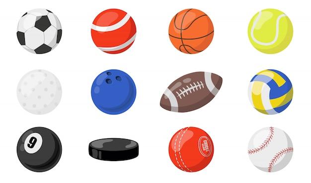 Мячи для спортивного набора Бесплатные векторы