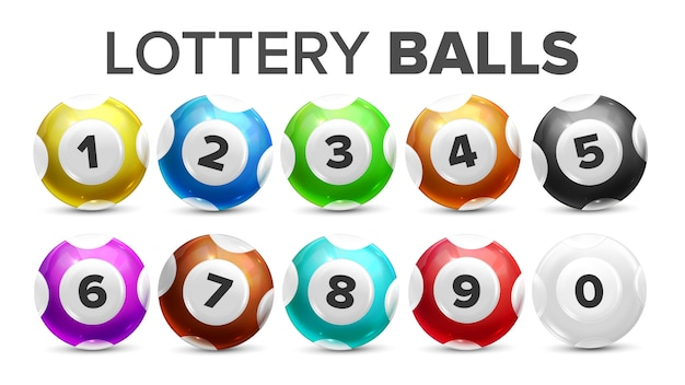Premium Vector | Balls with numbers for lottery game