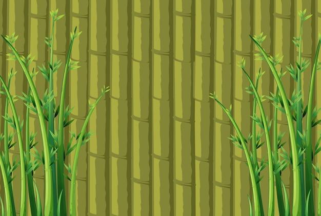 竹の背景 Premiumベクター