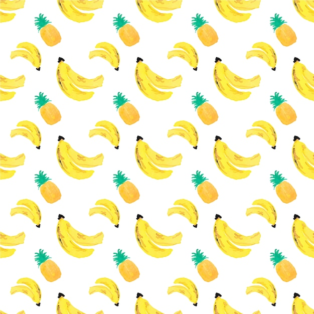 Banana And Pineapple Background Vector Free Download