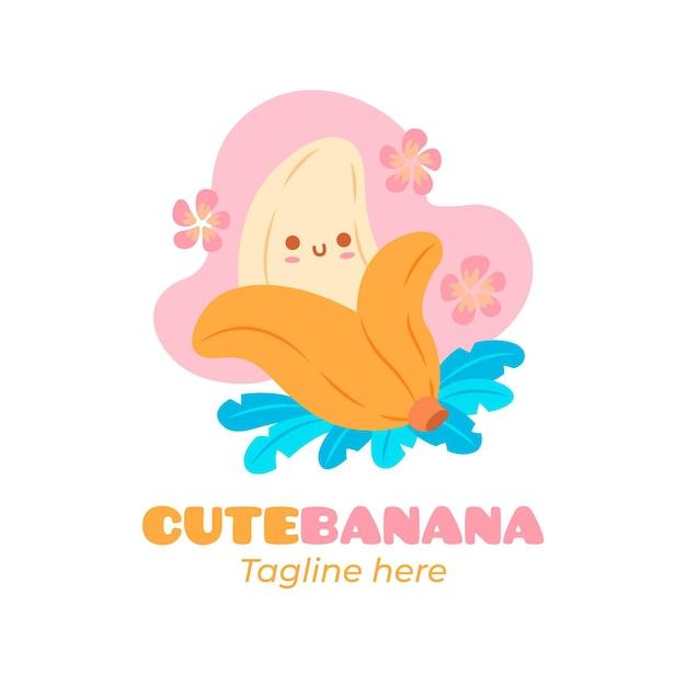 Modello di logo del personaggio di banana Vettore gratuito
