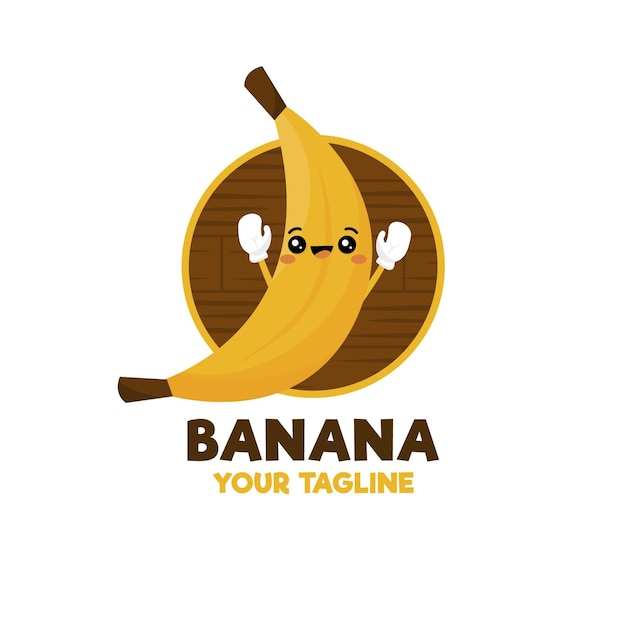 Logo del personaggio di banana Vettore gratuito